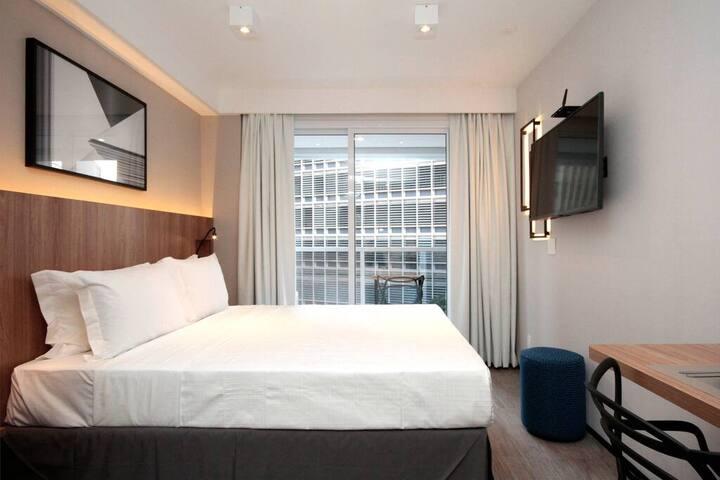 Apartamento individual e aconchegante, completo para você se sentir em casa /  Cozy and complete apartment to make you feel at home.