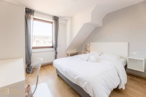 1- bedroom + Private Living Space with Kitchen Near Alzette River