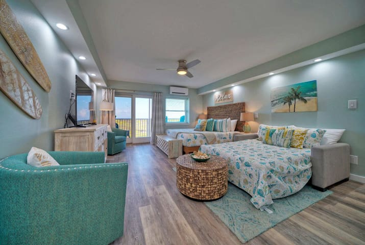 1 King Bed; 1 Living Spaces Full Size Sleeper Sofa.