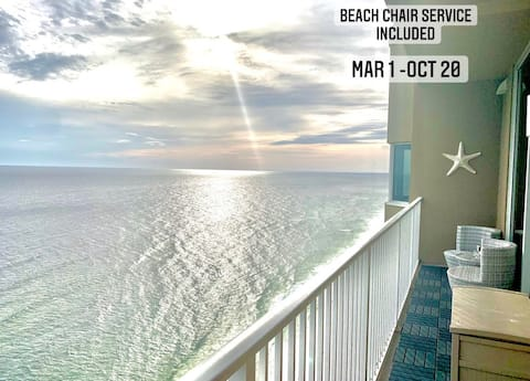 ★Beach Chair Service included | Walk to Pier Park⛱ Best Views in PCB