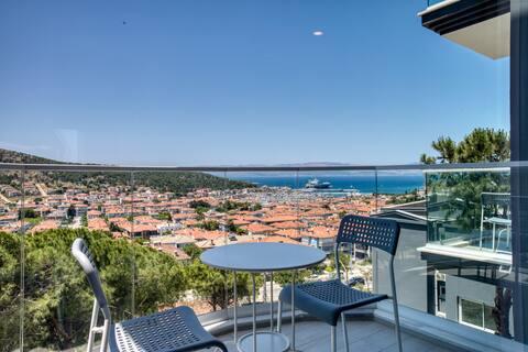 AEGEAN Apartments Cesme - Studio Sea with Kitchen