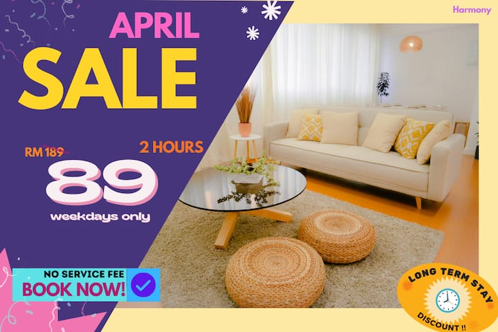 HA2 COUPLE RETREAT HOURLY RATE 2HR ONLY RM89!