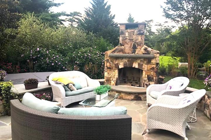 New! Warm up Fireside or in the Hot Tub at this Luxurious Home