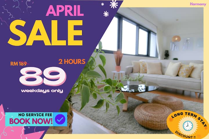 HA3 COUPLE RETREAT HOURLY RATE 2HR ONLY RM89!