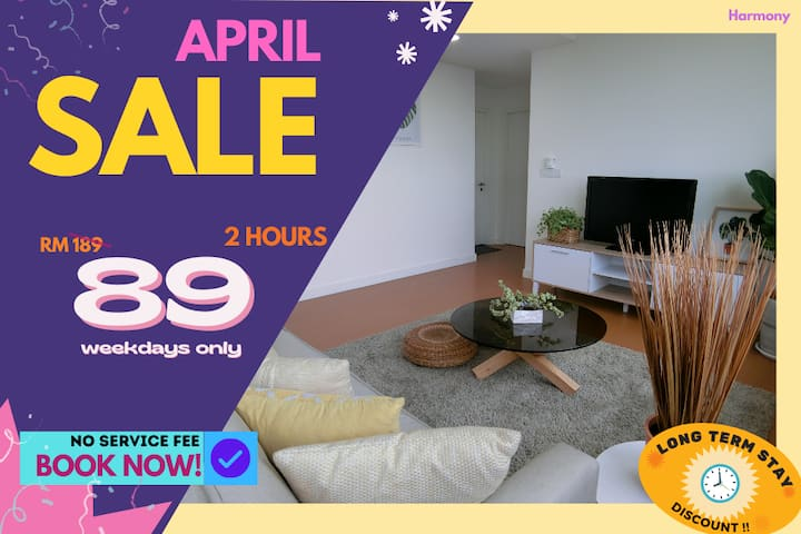 HA4 COUPLE RETREAT HOURLY RATE 2HR ONLY RM89!
