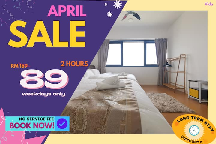 VD3 COUPLE RETREAT HOURLY RATE 2HR ONLY RM89!