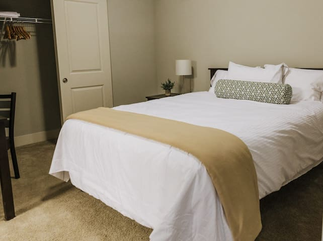 2 Master bedrooms with attached baths in every apartment!