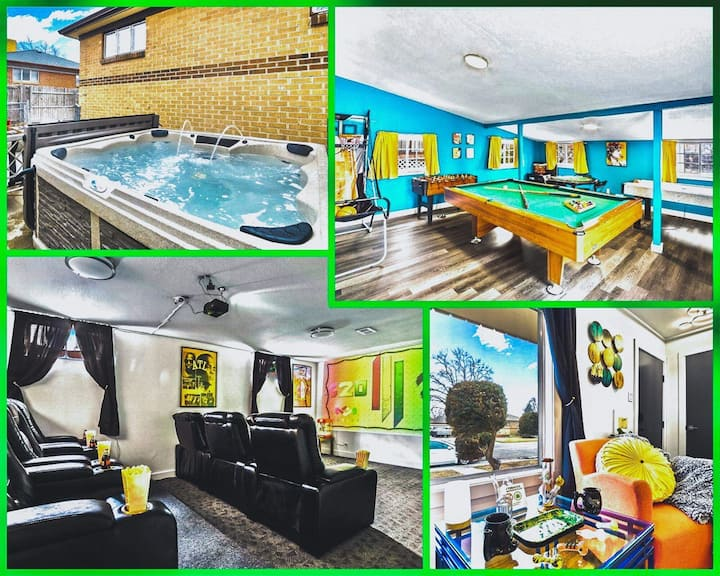 ❤️420💨Friendly Hottub Home Theater Pool Table❤️