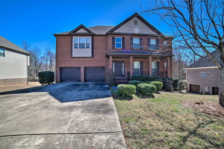NEW! McCalla Family Home with Game Room & Yard!