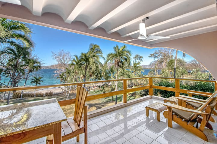 Ideal Oceanfront Gem W/ Beach Access,  WiFi, Private Balcony & More!