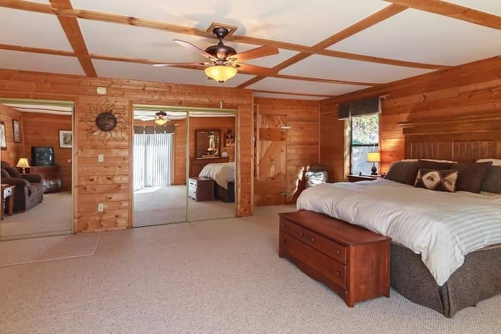 Extra large bedroom with king bed