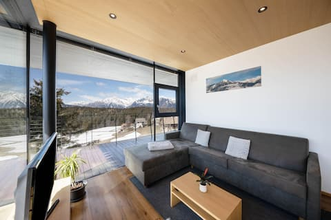 Apartment 'Mut RESIDENCE MORITZ' Close to Merano with Mountain View, Sauna, Wi-Fi, A/C, Private Terrace & Garden; Parking Available
