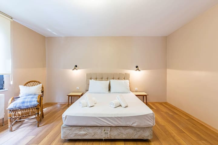 It's a cozy, spacious and peaceful house.