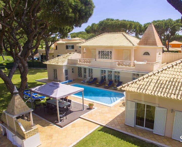Villa with 7 bedrooms in Quarteira, with private pool, enclosed garden and WiFi - 2 km from the beach