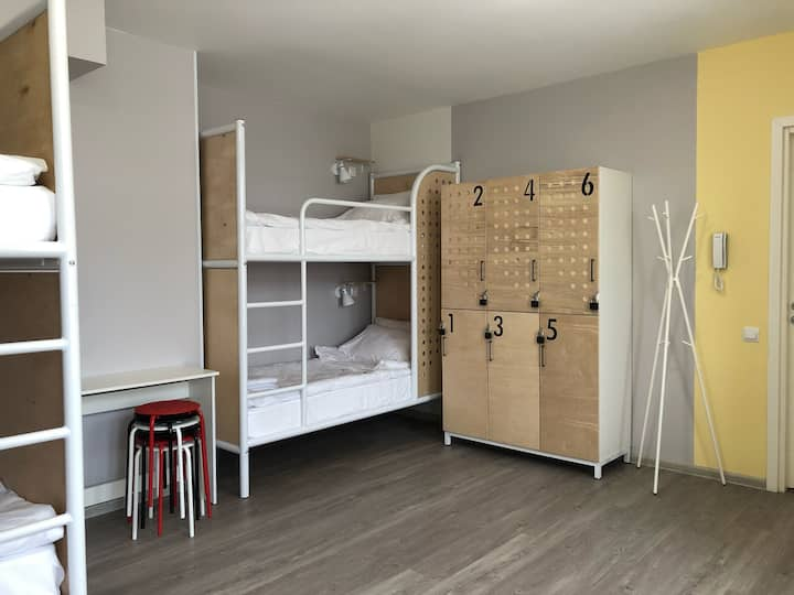 Bed in a 6-bed dorm - shared bathroom