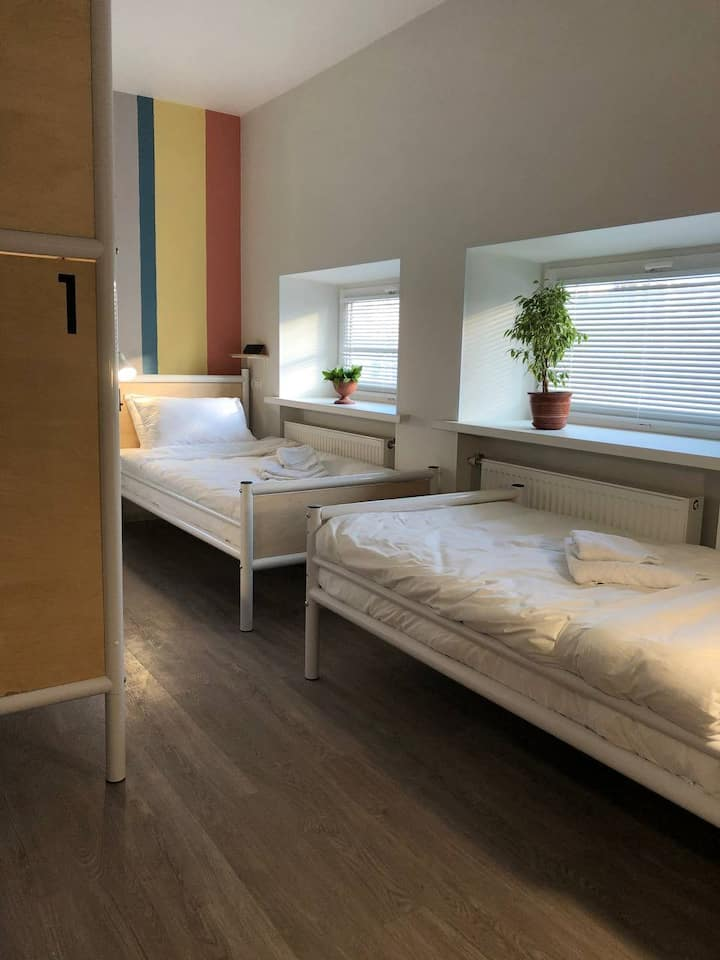 Bed in a 4-bed dorm - shared bathroom