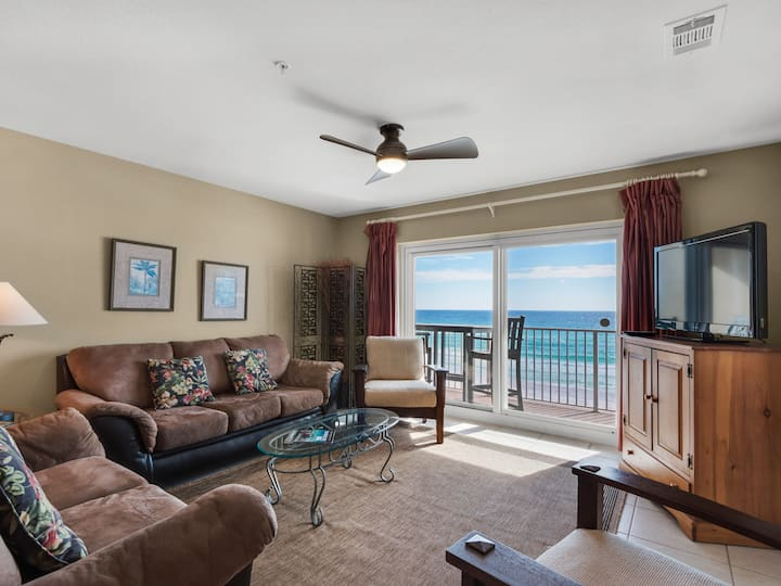 Beach Front, Balcony, Pool, and Beach Chair Service Included