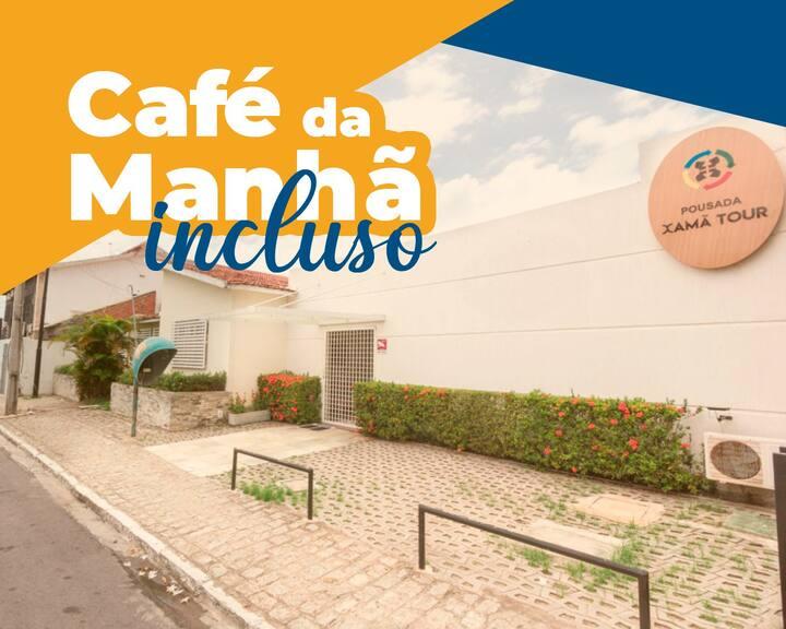 Quarto Duplo em Manaíra com café da manhã.