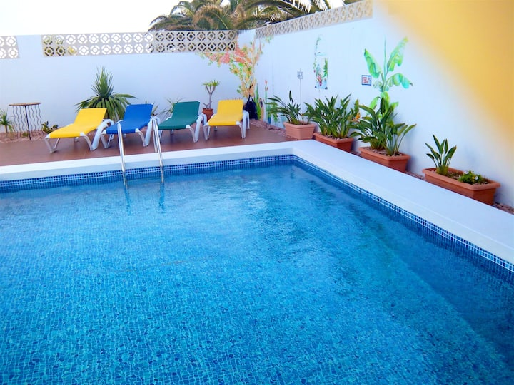 Villa with 3 bedrooms in Costa Teguise, with private pool, furnished terrace and WiFi - 1 km from the beach
