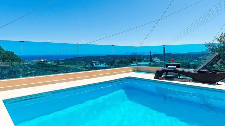 Chania Poolside Resort - Panoramic Seaview Retreat