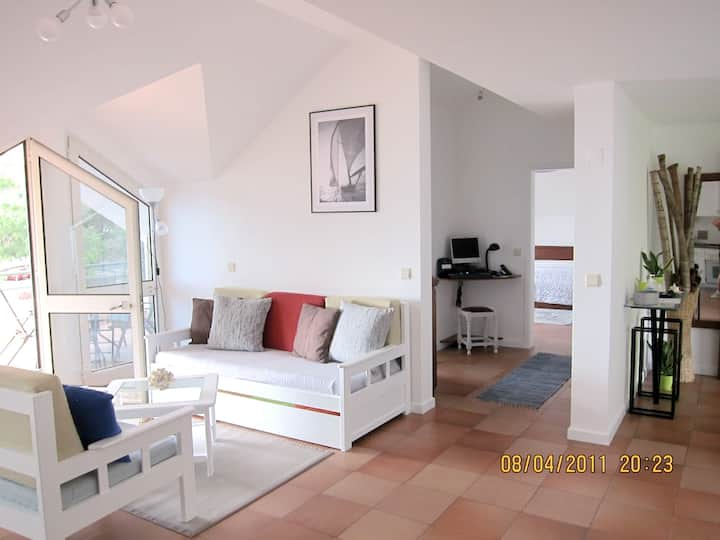 Apartment with one bedroom in Madalena do Mar, with wonderful sea view, furnished terrace and WiFi - 500 m from the beach