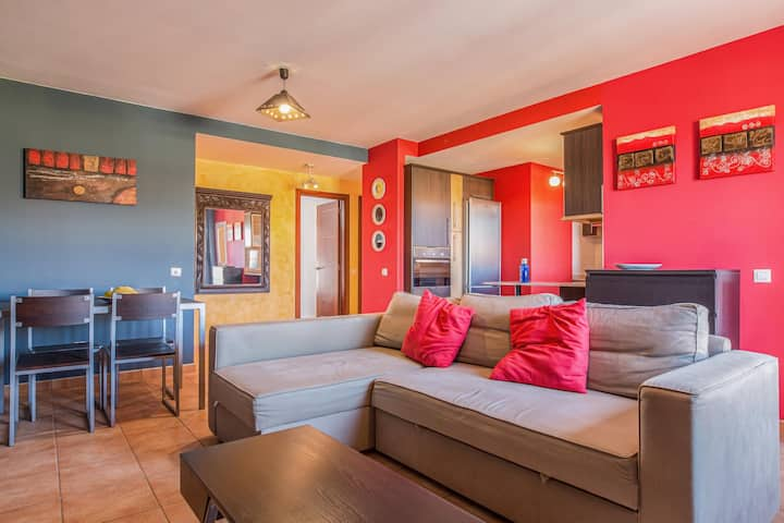 Vacation Home Casa Das Cores with Sea View, Pool, Wi-Fi, Garden & Terrace; Parking Available on Street