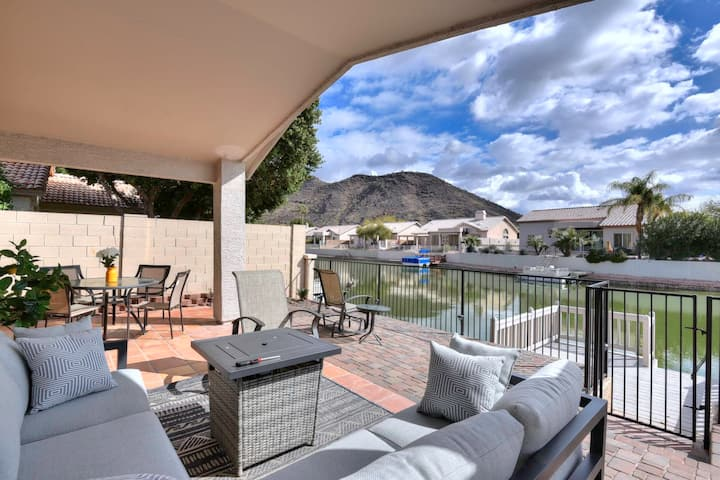 Charming Waterfront Modern 3 Bed 2 Bath with Water and Mountain Views!