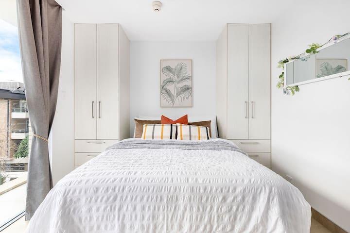 A cozy & tastefully furnished studio.