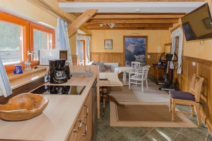 Wanderbasis Haslaustube (Schwarzenbach an der Pielach), Appartement mit Sauna für bis zu 4 Personen