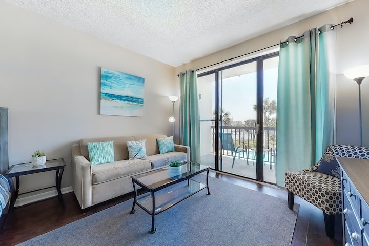 Stylish Condo on the Sound W/ Shared Dock, Shared Pool, & Great Location!