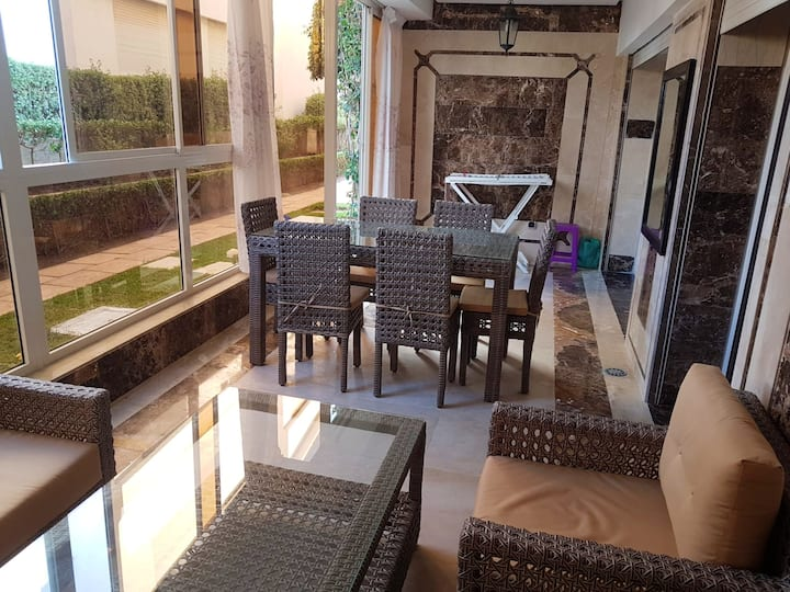 Apartment with 2 bedrooms in Casablanca, with shared pool and enclosed garden