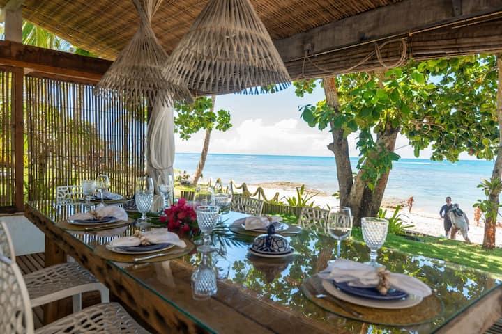 Casa maravilhosa, pé na areia, na Praia do Espelho