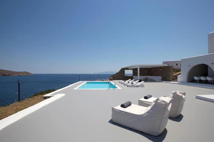 Villa Anemos, Sea view of Mykonos