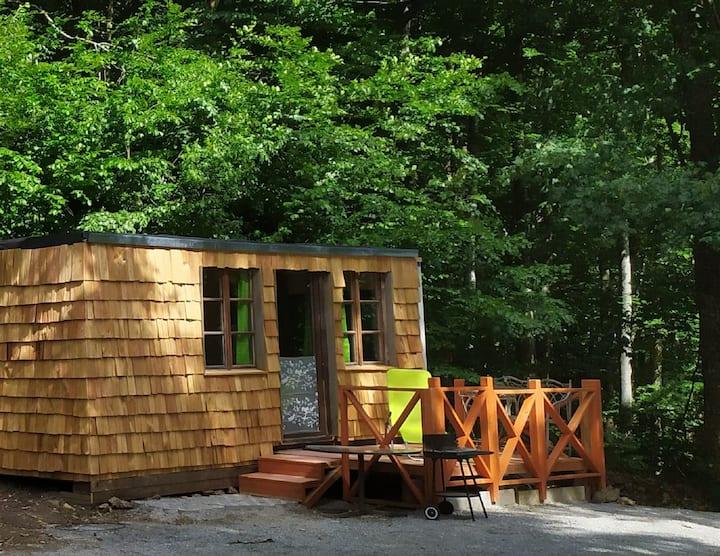 Esel Touren (Schöllnach), Tiny House 2 (18qm) mit Miniküche und Terrasse