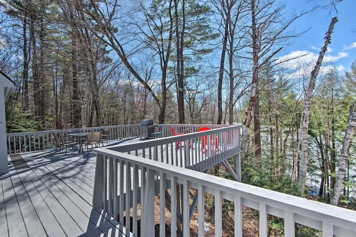 NEW! Wooded Waterfront Home: < 10 Miles to Skiing!