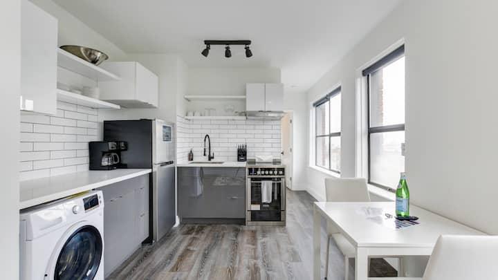 Lux studio with quartz and granite countertops