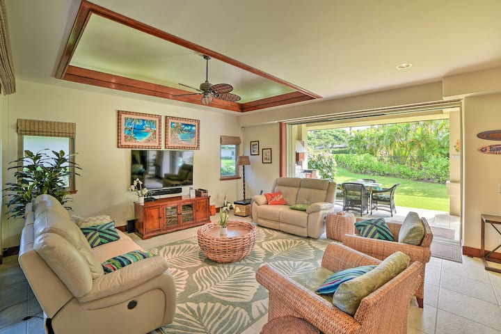 NEW! Tropical Escape w/ Pool Access, 1 Mi to Beach