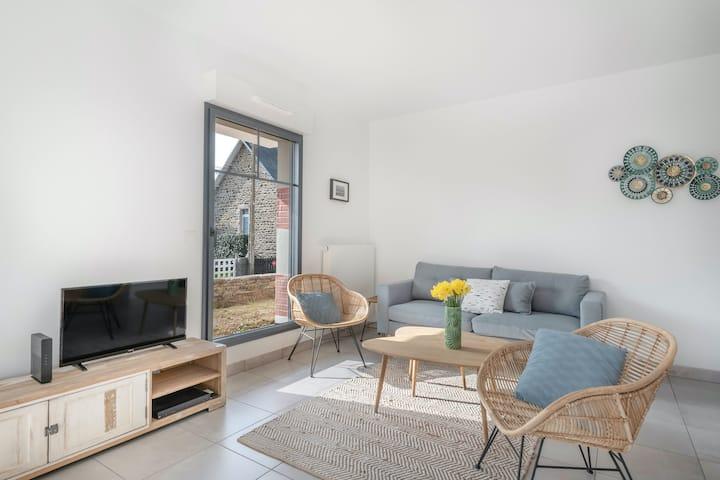 Un accueillant appartement bord de mer à Pléneuf-Val-André