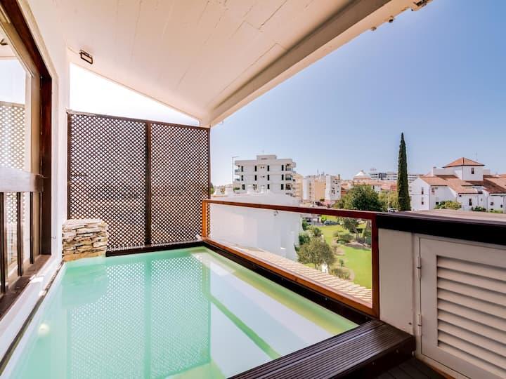 Terrace Pool 3 bdr apt Vilamoura's Marina