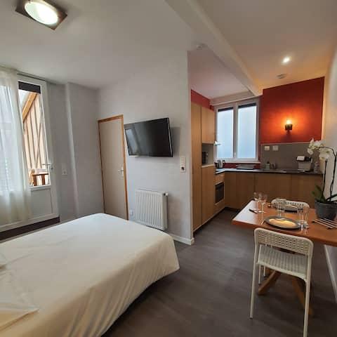 La Potinière du Lac Appartements - Studio de 19 m² totalement équipé N°10. Petite terrasse privative