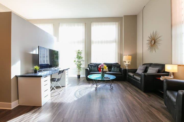 Loft Style Apt with Fast Wifi and Gym!
