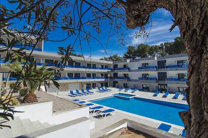 Apartamento de dos habitaciones con piscina en Platja d'Aro
