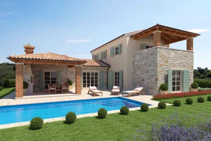 Villa for 6+1 persons in Vabriga R107436