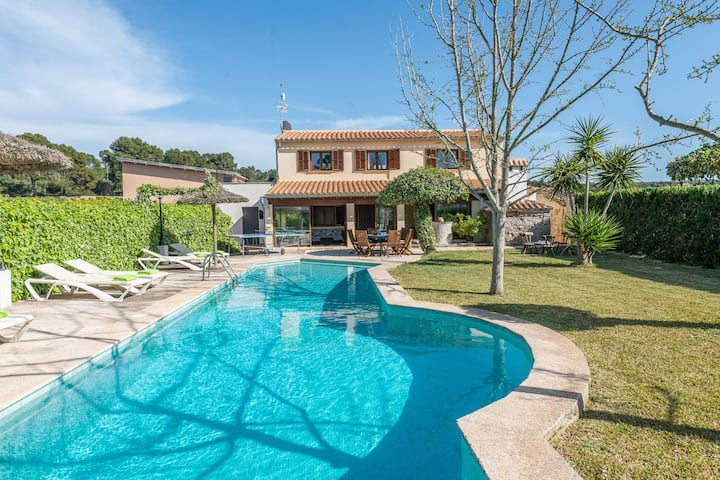 CA NA CAPITANA - Country house with private pool and wonderful views. Free WIFI.