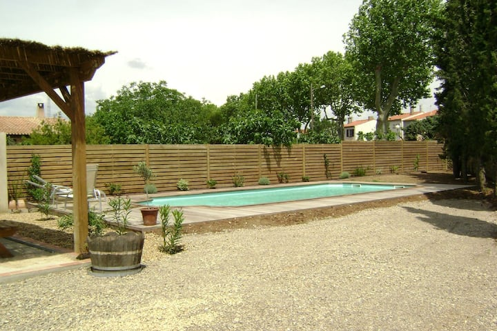 Snug Apartment in Olonzac with Swimming Pool