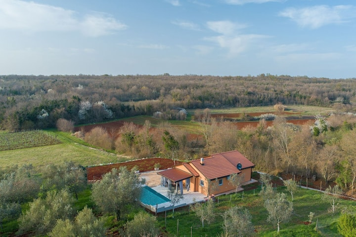Villa with Private pool and garden, surrounded by nature