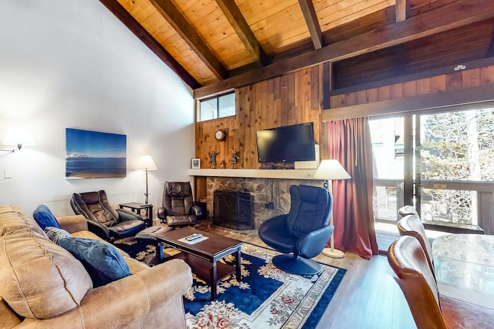 Three-Story Lakefront Condo w/ Free WiFi, Wood-Burning Fireplace, & Shared Pool