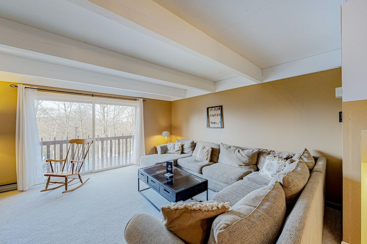 Dog-friendly condo w/ a wood fireplace, full kitchen, & free WiFi