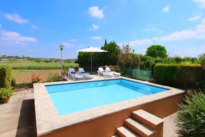Holiday Home Es Viola with Mountain View, Pool, Wi-Fi, A/C, Garden & Terrace; Parking Available