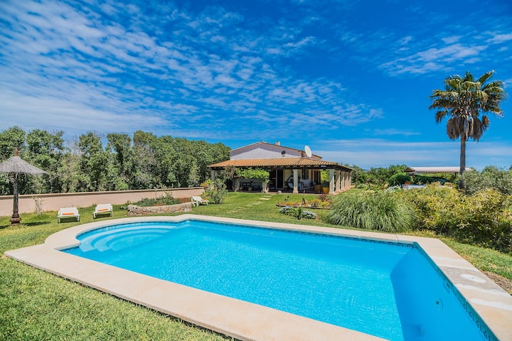Villa Can Moscard with Mountain View, Pool, Wi-Fi, Garden & Terrace; Parking Available